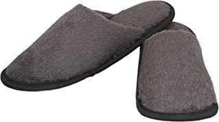 Old Cobbler Unisex Grey Fur Flip- Flops & House Slippers(Free Size)