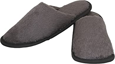 Old Cobbler Unisex Grey Fur Flip- Flops & House Slippers(Free Size)