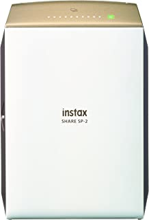 Instax Share SP-2 Printer Gold (Contains Required NP-45 L-ion Battery and USB Cable for Charging)