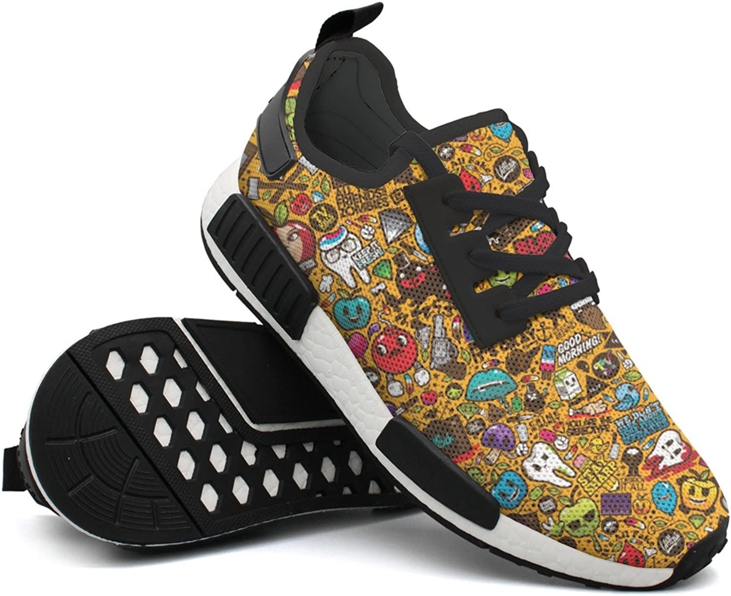 Abstract Psychedelic Women's Active Novelty Running shoes Printing Young Men