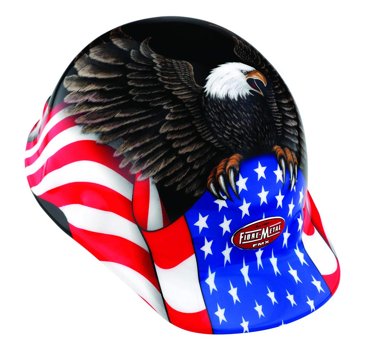 Fibre-Metal by Honeywell SuperEight Thermoplastic Cap-Style Hard Hat with 8-Point Ratchet Suspension, Spirit of America