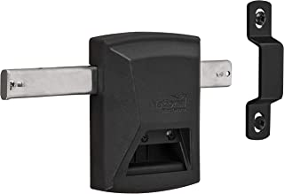 National Hardware N109-080 SmartKey Gate Lock, Black