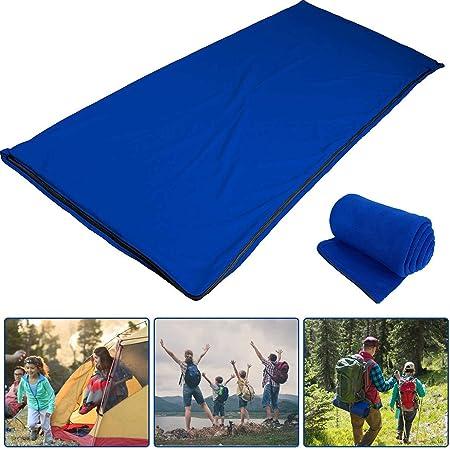 voller Rei/ßverschluss REDCAMP Fleece-Schlafsack f/ür Erwachsene warmes Wetter Rucksackreisendecke f/ür Outdoor Camping oder Innen mit Sack