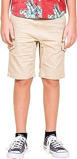 Boys' Big Cargo Shorts Slim Fit Multi Pocket Stretch Twill Short