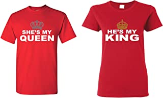 She's My Queen - He's My King Couples Matching T-Shirts