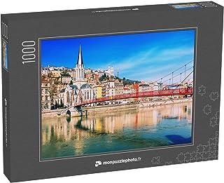monpuzzlephoto Puzzle 1000 pièces La passerelle piétonne Saint Georges et l'église Saint Georges à Lyon, France, par Une B...