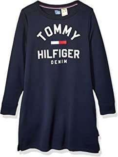 Tommy Hilfiger Women's Adaptive Long Sleeve Dress with Magnetic Closure at Shoulders