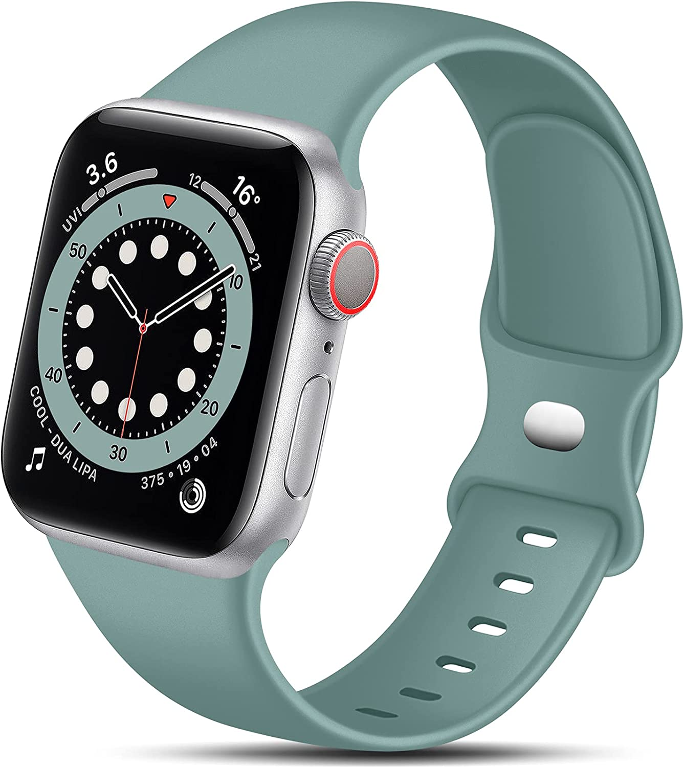 Nofeda Bands Compatible with Apple Watch Band 40mm 44mm 42mm 38mm iWatch bands women men, Soft Silicone Sport Strap Replacement for Apple Watch Series 3 SE iWatch Series 6 5 4 3 2 1