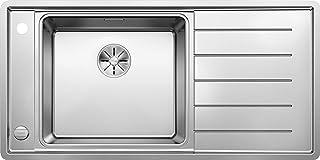 BLANCO Andano XL 6 S-IF, Küchenspüle, Becken links, mit Multifunktionsschale, InFino-Ablaufsystem und Ablauffernbedienung, Edelstahl Seidenglanz 523000