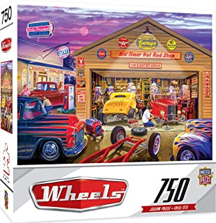 MasterPieces Wheels Jigsaw Puzzle, Old Timer's Hot Rods, Featuring Art by Bruce Kaiser, 750 Pieces