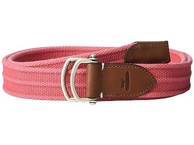 johnnie-O Brentwood Canvas Web Belt (Malibu Red) Men
