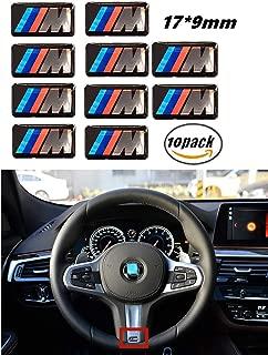 10pcs Premium M Tec Sport Badge Sticker Emblems for M1 M2 M3 M4 M5 M6 Series Steering Wheel Dashboard