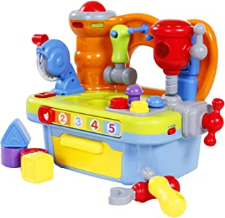 iFixer Multifunctional Musical Learning Tool Workbench Set with Shape Sorter Tools for Toddlers
