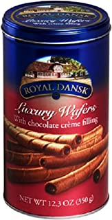 Royal Dansk Luxury Wafers with Chocolate Creme Filling 12.3 Oz 350g Tin