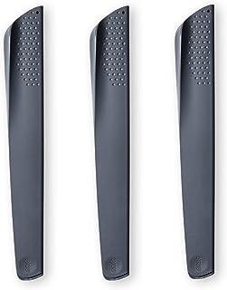 Grande fundas protectora para cuchillos - juego de 3 piezas, gris oscuro