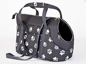 Hobbydog Bolsa de Transporte para Perros y Gatos, tamaño 2, Color Gris con Patas impresión