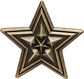 Knighthood Men's Super Star Lapel Pin Badge Bronze