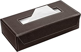 Ecoleatherette Handcrafted Tissue Paper Tissue Holder Car Tissue Box Chocolate Colour