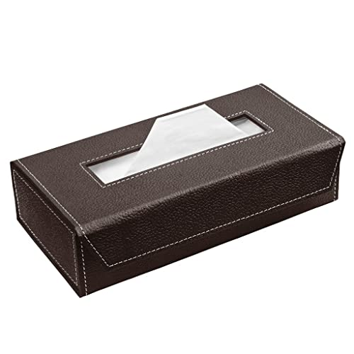 Ecoleatherette Handcrafted Eco-Friendly Napkin Box Paper Tissue Holder Box(Chocolate )