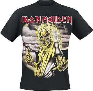 Iron Maiden Killers Hombre Camiseta Negro, Regular