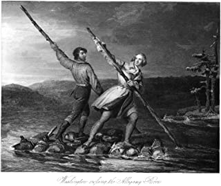 George Washington N(1732-1799) First President Of The United States Washington (Right) Crossing The Allegheny River In 175...