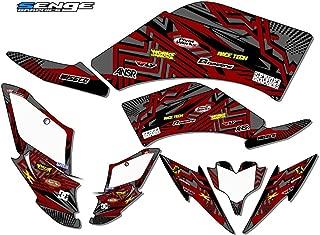 Senge Graphics kit compatible with Yamaha All Years Raptor 250, Mayhem Grey Graphics Kit