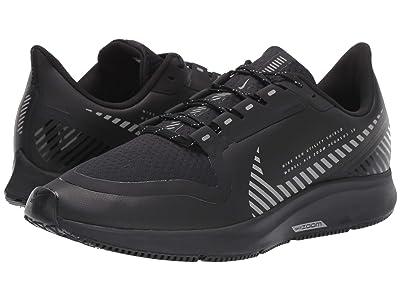 Nike Air Zoom Pegasus 36 Shield (Black/Black/Metallic Silver) Men