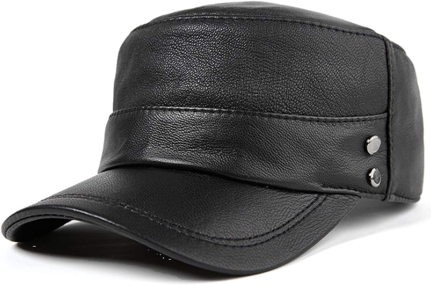 Men Hat leather man and woman Genuine Free Shipping cap baseball to shop autumn winter flat
