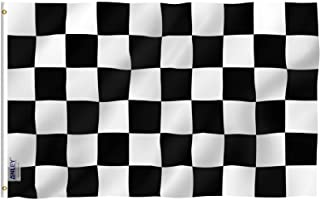 Best Anley Fly Breeze 3x5 Foot Checkered Flag - Vivid Color and Fade Proof - Canvas Header and Double Stitched - Black and White Racing Flags Polyester with Brass Grommets 3 X 5 Ft Review