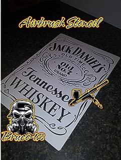 Whiskey Airbrush Stencil Jack Daniels reusable 8