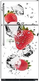 Fond Blanc 60x90cm Sticker Frigo D/éco Fruit Cuill/ères Argent Epices SF01161