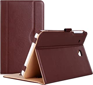 Procase Galaxy Tab E 8.0 Case - Stand Folio Case Cover for Galaxy Tab E 8.0 4G LTE Tablet (Sprint,US Cellular, Verizon,T-Mobile, ATT) SM-T377 (Brown)