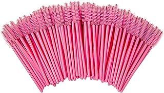 Shintop 100pcs Disposable Eyelash Brushes Eye Lash Makeup Brush Mascara Wands Applicator (Pink)