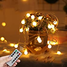 LED Fairy Lights USB Globe Ball String Lights with Remote Christmas light 33Ft 100LED Children's Light Decor for Indoor Be...