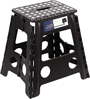 REDCAMP 15 Inches Folding Step Stool for Adults and Kids, Heavy Duty Collapsible Plastic Step Stool with Handle
