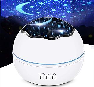 چراغ شب LED ، پروژکتور ستاره ، پروژکتور گلکسی ، چراغ های اتاق ، پروژکتور نور برای اتاق خواب ، چراغ کنار تخت ، 8 حالت روشنایی ، روشنایی قابل تنظیم ، چرخش 360 درجه ، مناسب برای اتاق نشیمن ، مهمانی