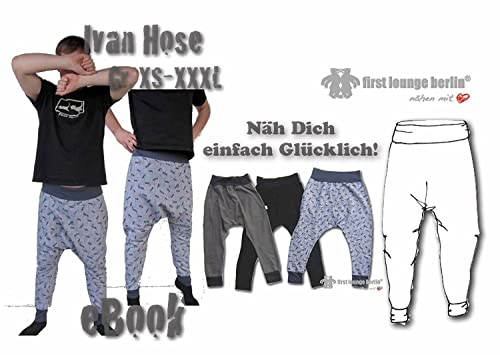 Ivan Jerseyhose Nähanleitung mit Schnittmuster für Hänge-Hose Fletzhose [Download]