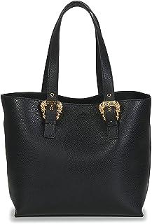 Versace Shopper Jeans Couture schwarz mit geschnitzten Schnallen