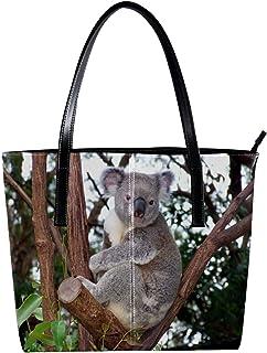 Lorvies Koala - Borsa a tracolla da donna, in pelle PU, con borsa a tracolla