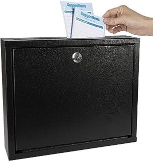 Kyodoled Suggestion Box with Lock Wall Mounted,Mail Box, Key Drop Box Cards, Safe Lock Box,Ballot Box,Donation Box,3W x 10...