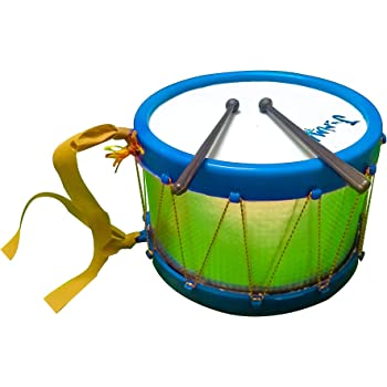 Musical Drum Toy with Sticks and Hanging Thread for Kids and Babies (Large Size)- Made in India