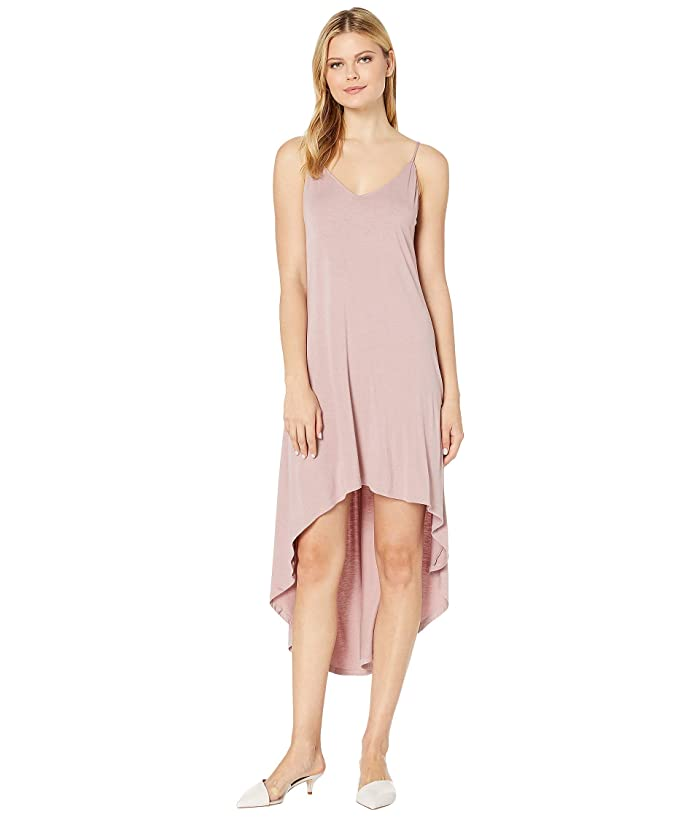 American Rose Riley Spaghetti Strap High-Low Dress (Dusty Pink) Women