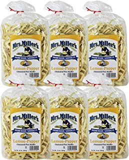 Mrs. Miller's Homemade Noodles, Lemon-Pepper, All Natural & Cholesterol Free, 14 OZ (Pack of 6)