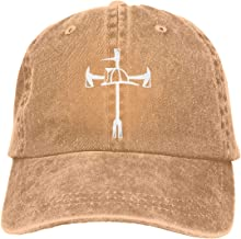 Firefighter Maltese Cross Halligan Hooligan Fire Axe Adjustable Baseball Caps Denim Hats Cowboy Sport Outdoor