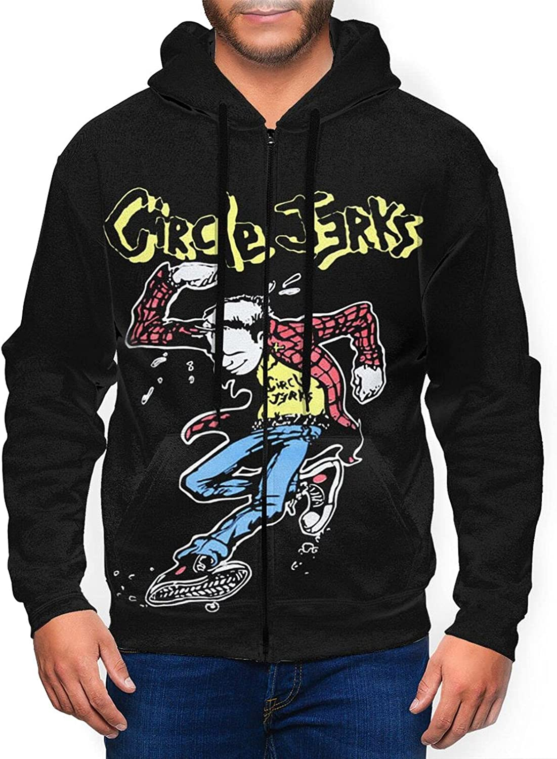 Circle Jerks Men'S Hooded Zipper Coa Shirt Classic SEAL limited product favorite Jacket Casual