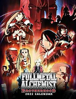 Fullmetal Alchemist Brotherhood 2022 Calendar: Jul 2021 - Dec 2022, 18-month Grid Calendar 8.5x11 inches for teens and adu...
