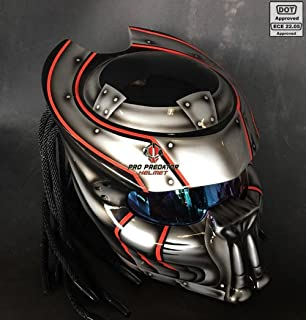 Pro Predator Motorcycle DOT Approved Helmet MK2 Style include Tri Laser SY39