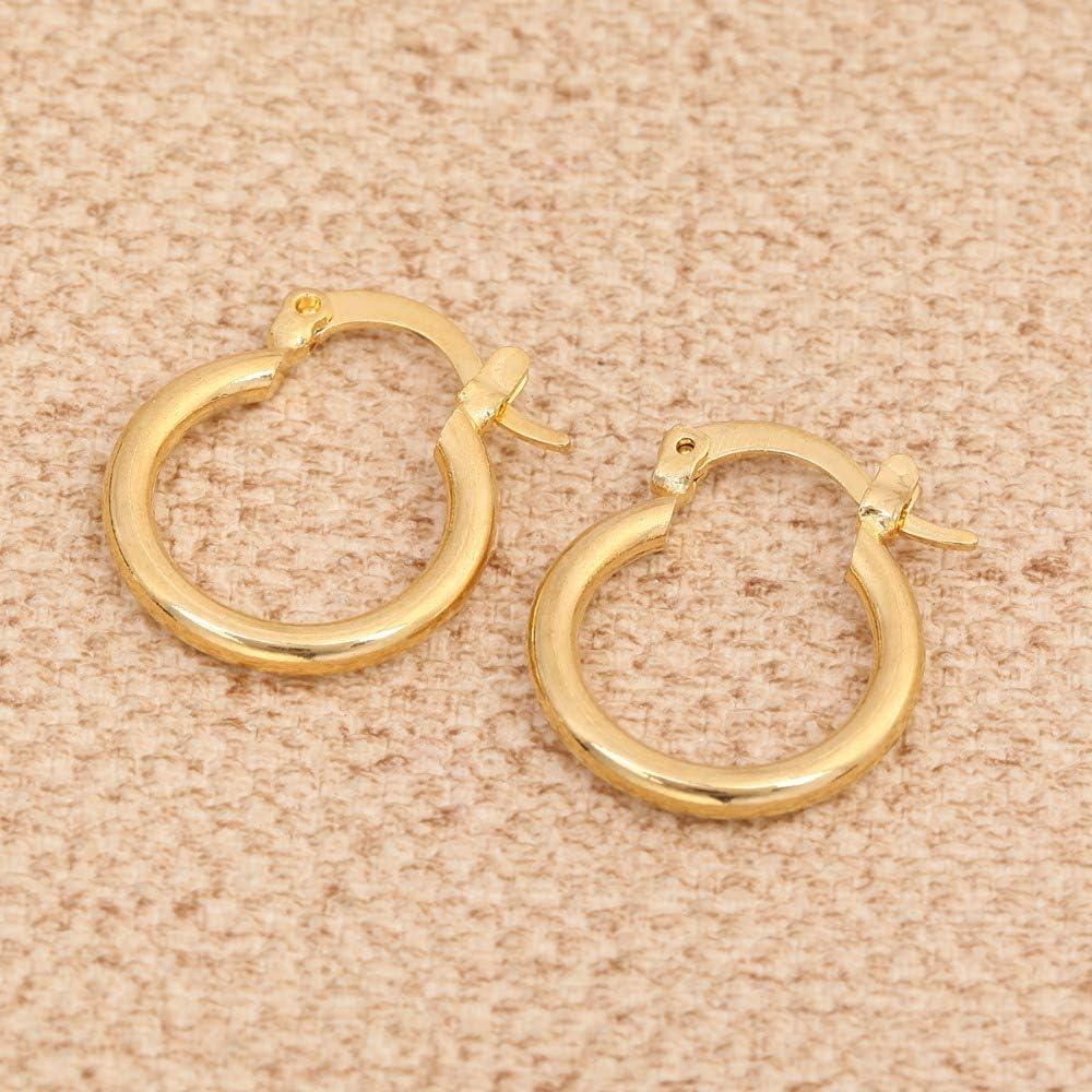 18 K Yellow Solid Gold Earring for women ,Hoop earring set for girls