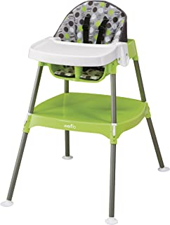 Evenflo 4-in-1 Eat & Grow Convertible High Chair, Dottie Lime