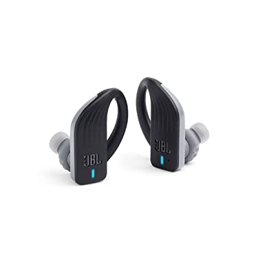 JBL ENDURANCE PEAK - True Wireless Earbuds, Bluetooth Sport Headphones with Microphone, Waterproof, up to 28 Hours Battery, Charging Case and Quick Charge, works with Android and Apple iOS (Black)
